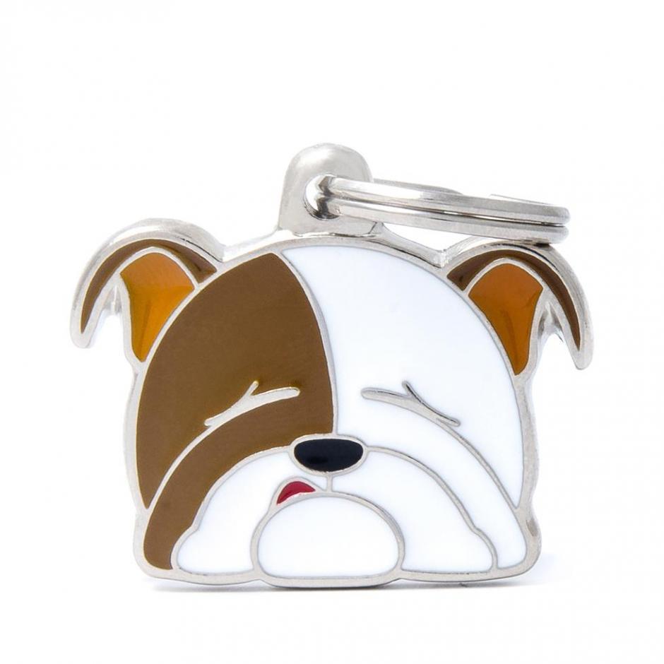 Halsbandssmycke med Rasmotiv - Engelsk Bulldog