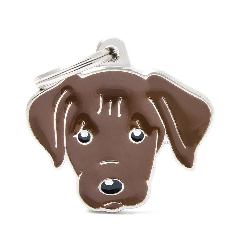 Halsbandssmycke med Rasmotiv - Labrador - Choklad
