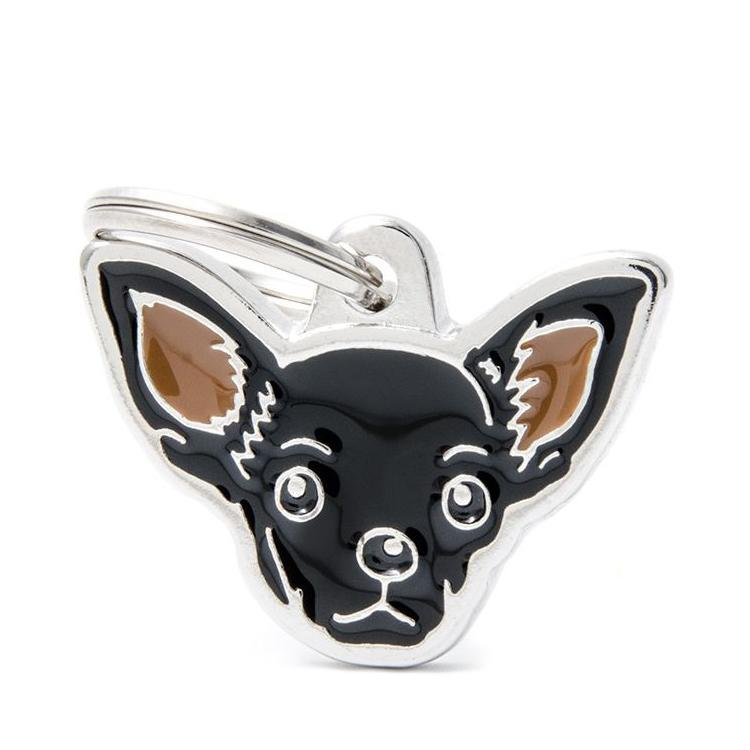 Halsbandssmycke med Rasmotiv - Chihuahua - Svart