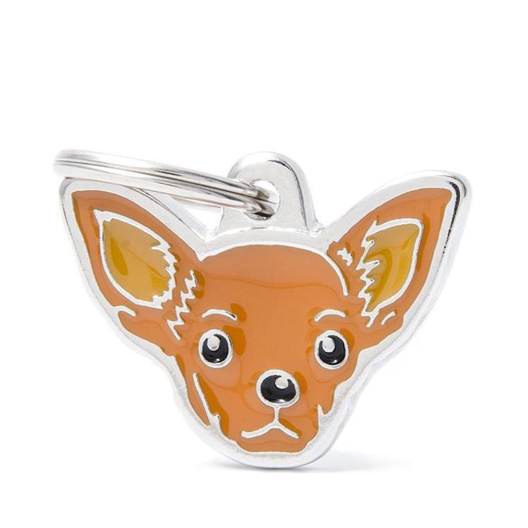 Halsbandssmycke med Rasmotiv - Chihuahua - Choklad