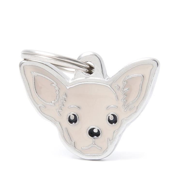 Halsbandssmycke med Rasmotiv - Chihuahua - Cream