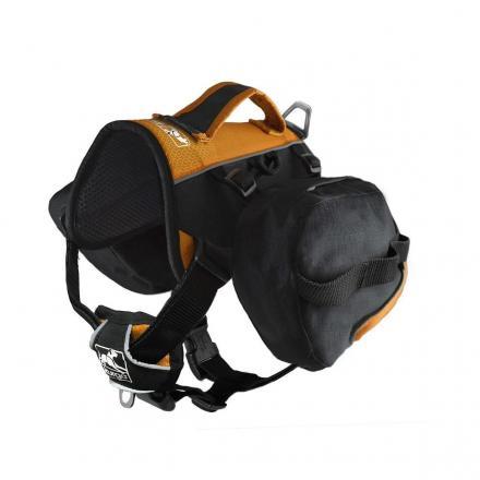 Kurgo Baxter Dog Backpack - Svart/Orange