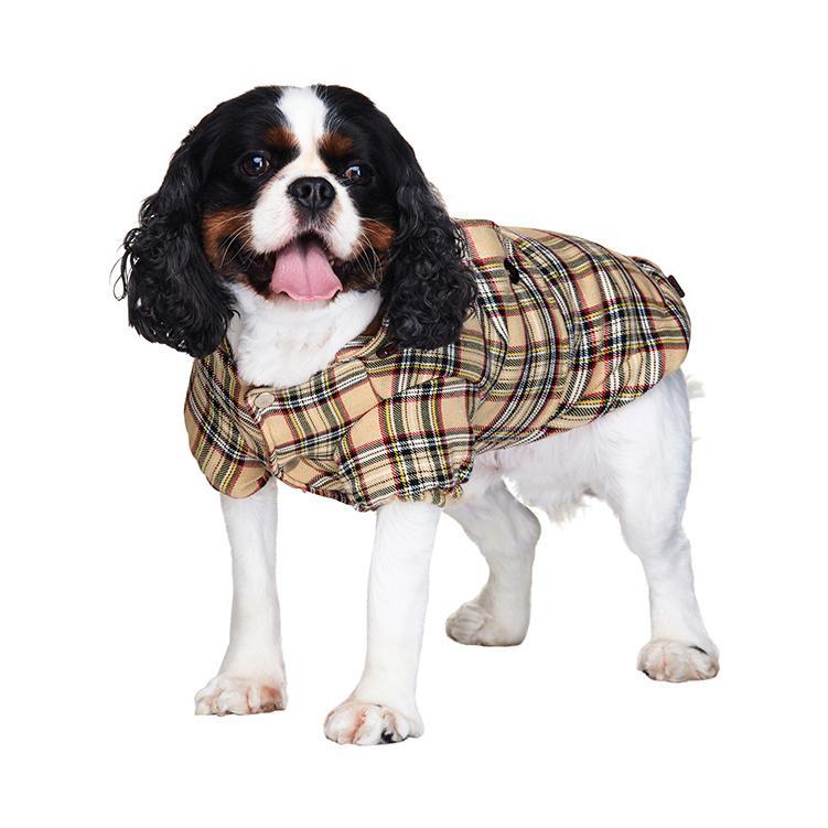 Brown Tartan Hundjacka -