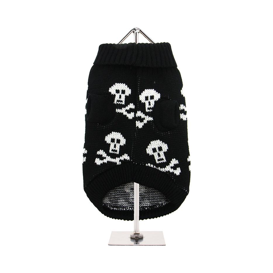 Stickad Hundtröja - Black Skull