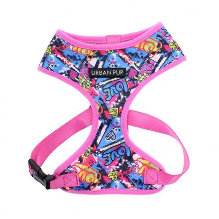 Urban Pup Harness - Pink Graffiti