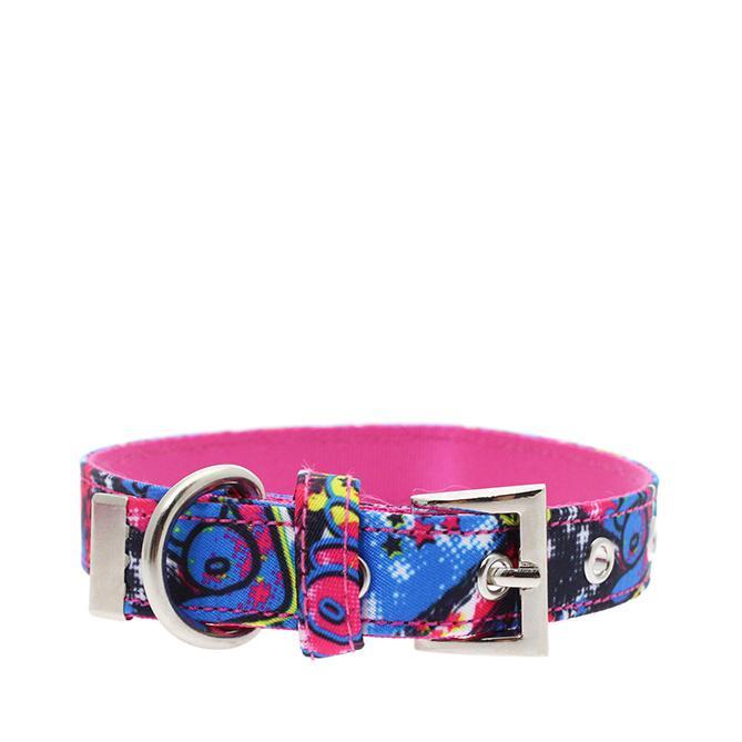 Urban Pup Halsband - Pink Graffiti