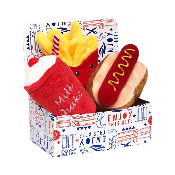 Meal Deal Box Hundleksak - Korv med Bröd