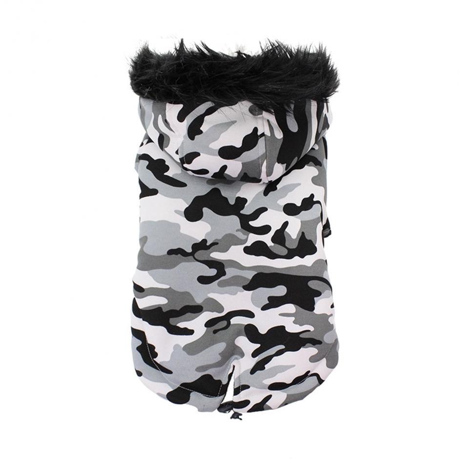 Hundparkas - Svart Camouflage
