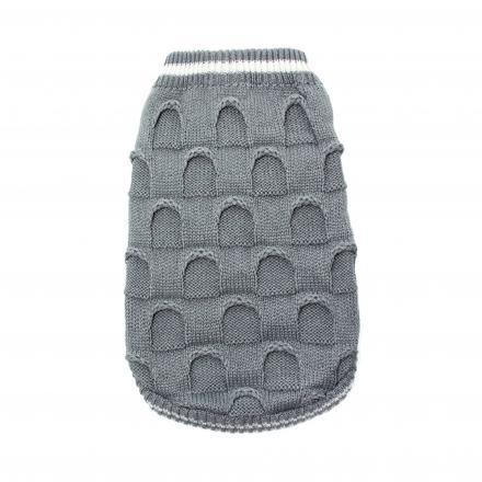 Stickad Hundtröja - Grey Ruffle