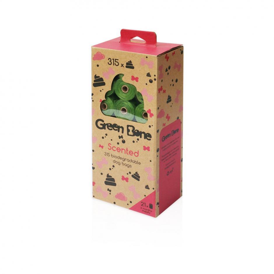 Green Bone 315-pack Biobajspåsar - Scented