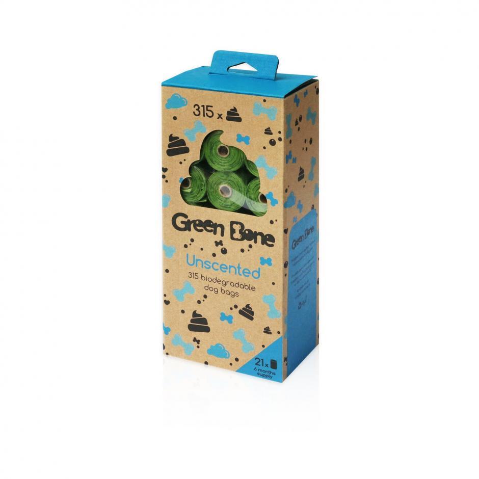 Green Bone 315-pack Biobajspåsar - Unscented