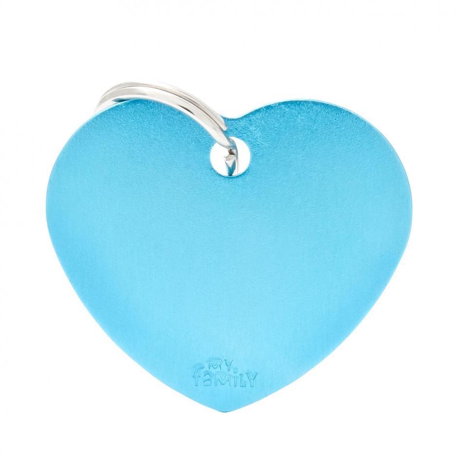 MyFamily Basic - Hjärta / Ljusblå