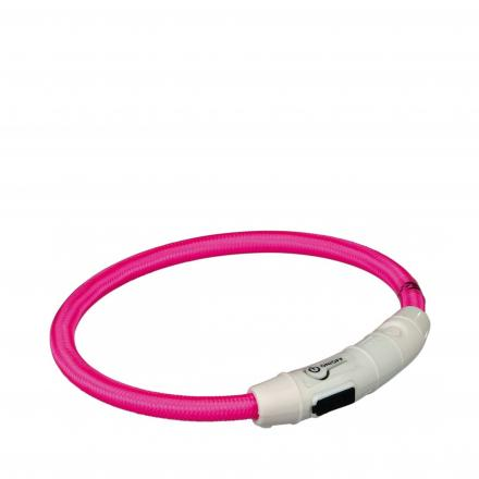 Flash Light Ring Halsband - Rosa
