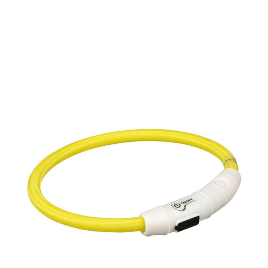 Flash Light Ring Halsband - Gul