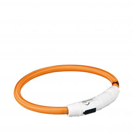 Flash Light Ring Halsband - Orange
