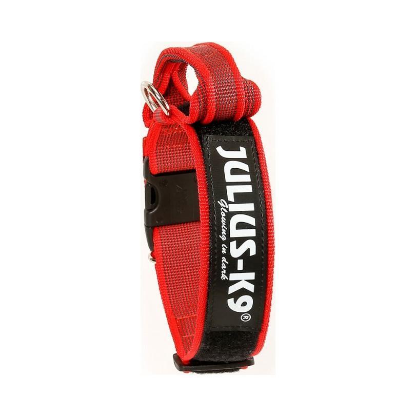Julius-K9 C&G Med Handtag Hundhalsband - Röd