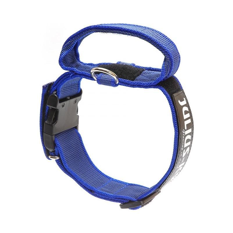 Julius-K9 C&G Med Handtag Hundhalsband - Blå