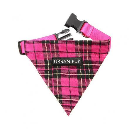 Urban Pup Bandana - Pink Tartan