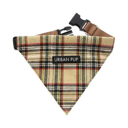 Urban Pup Bandana - Brown Tartan