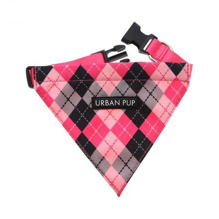 Urban Pup Bandana - Pink Argyle
