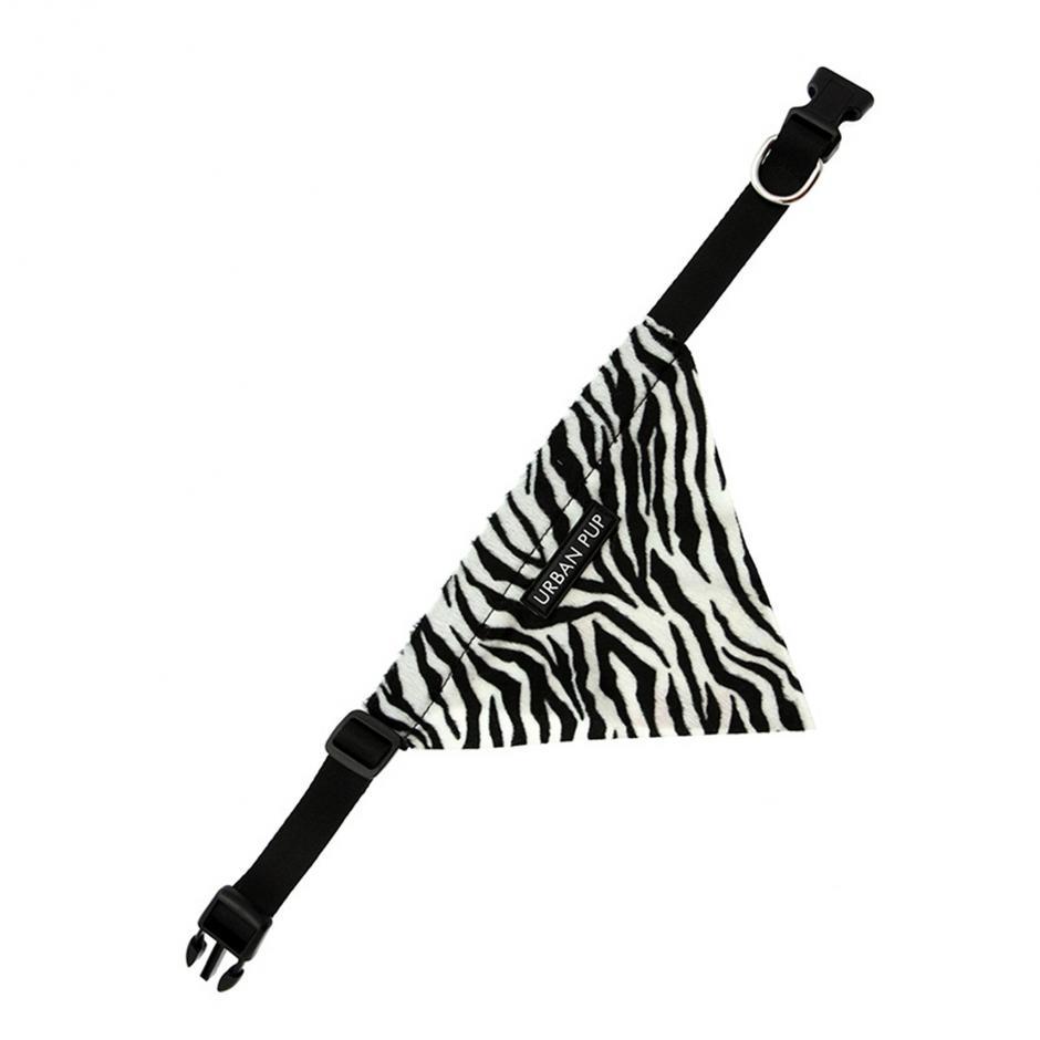 Urban Pup Bandana - Zebra