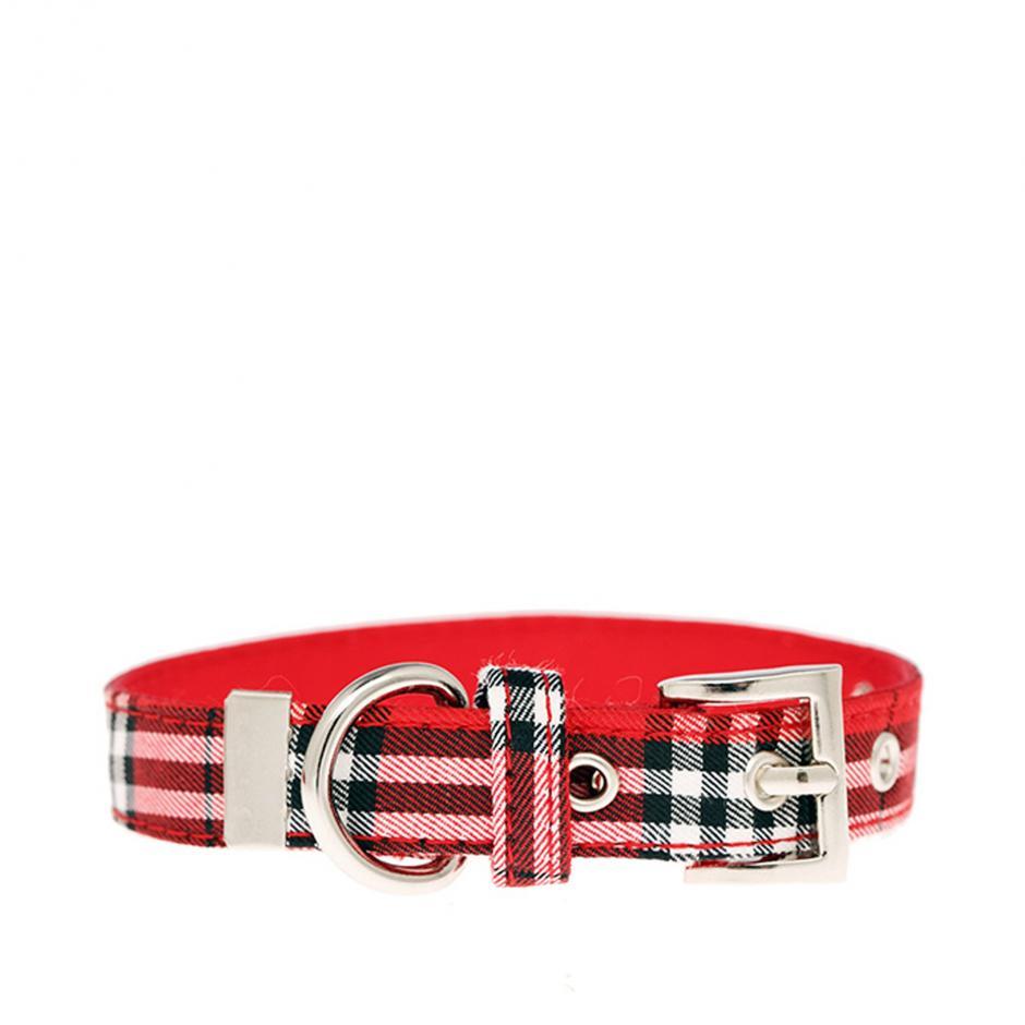 Urban Pup Halsband - Red Tartan
