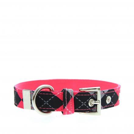 Urban Pup Halsband - Pink Argyle