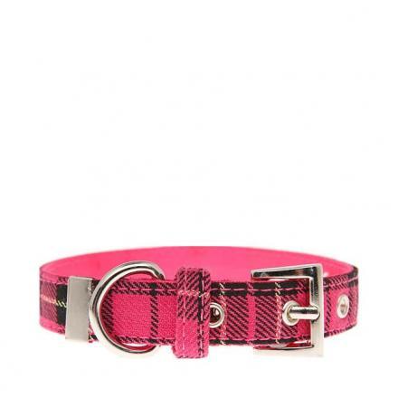 Urban Pup Halsband - Pink Tartan