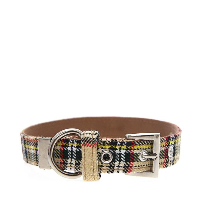 Urban Pup Halsband - Brown Tartan