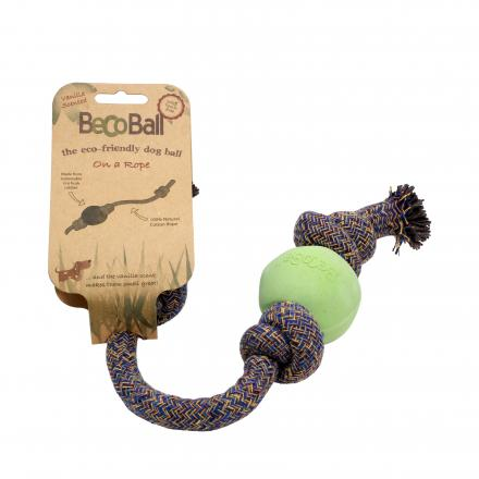 Beco Ball On A Rope Hundleksak - Grön