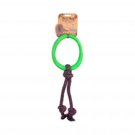 Beco Hoop On a Rope Hundleksak - Grön