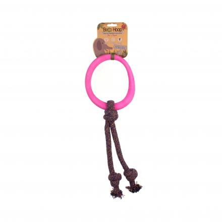 Beco Hoop On a Rope Hundleksak - Rosa