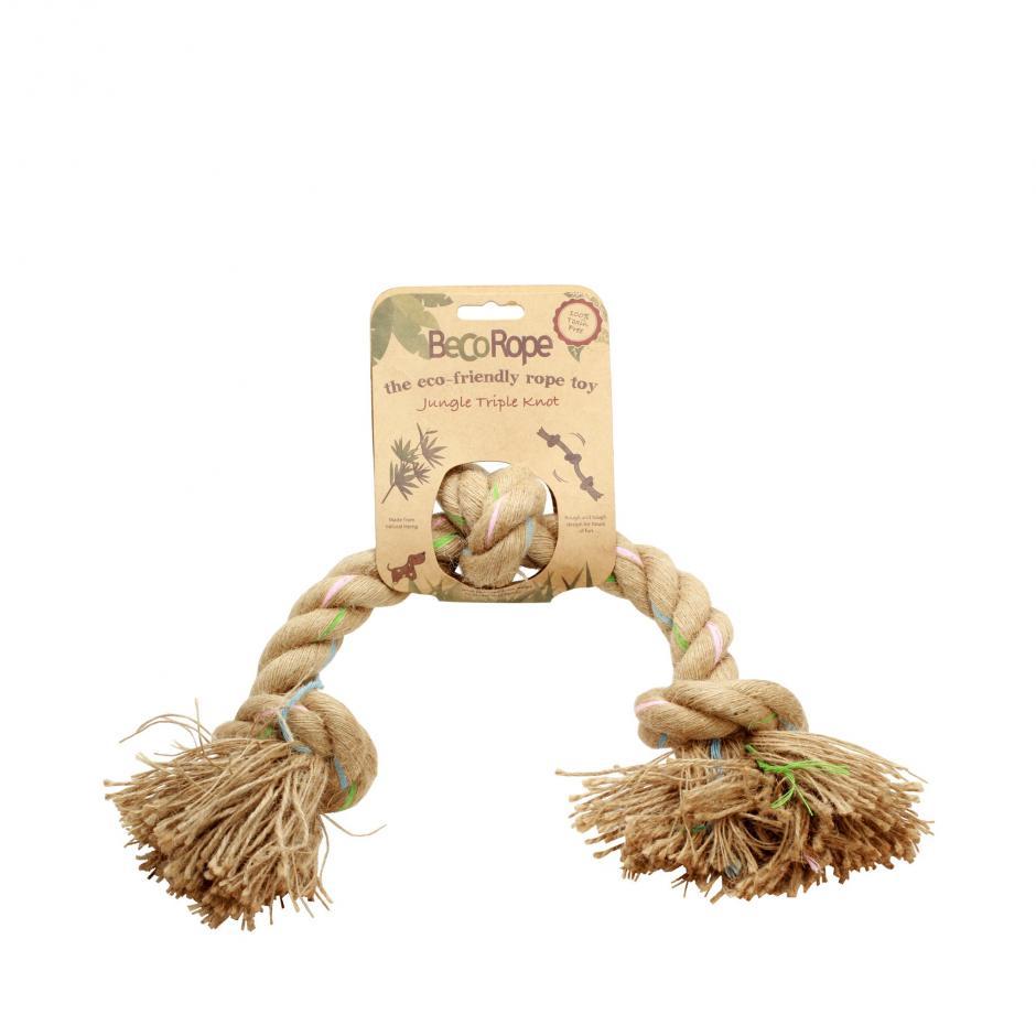 Beco Rope Jungle Triple Knot Hundleksak -