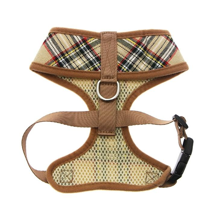 Urban Pup Harness - Brown Tartan