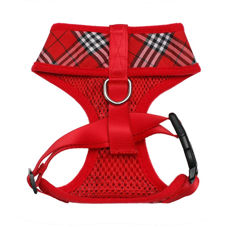 Urban Pup Harness - Red Tartan