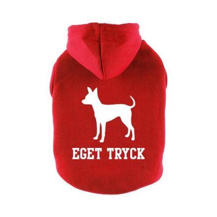 Designa Din Egen Hoodie Hundtröja - Röd