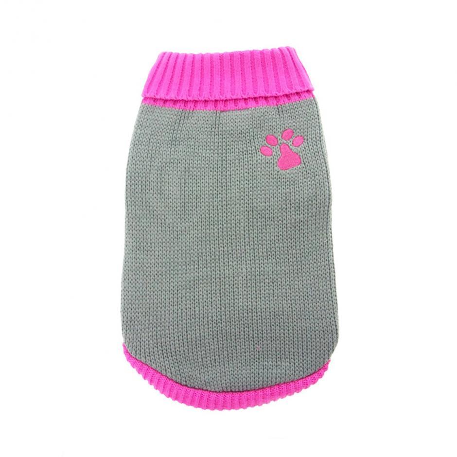 Stickad Hundtröja - Pink Paw